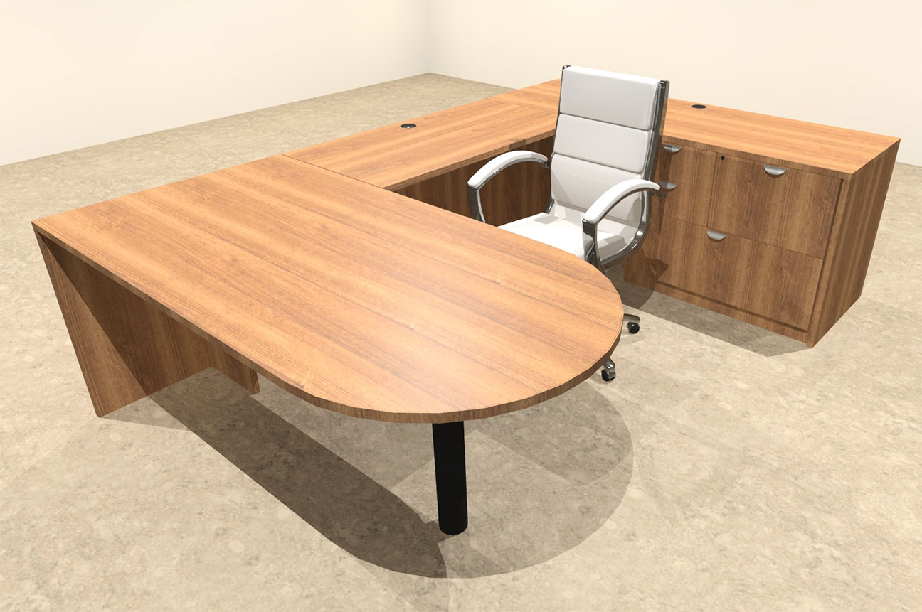 4pc u shaped modern executive office desk ot sul u9 ebay. Black Bedroom Furniture Sets. Home Design Ideas
