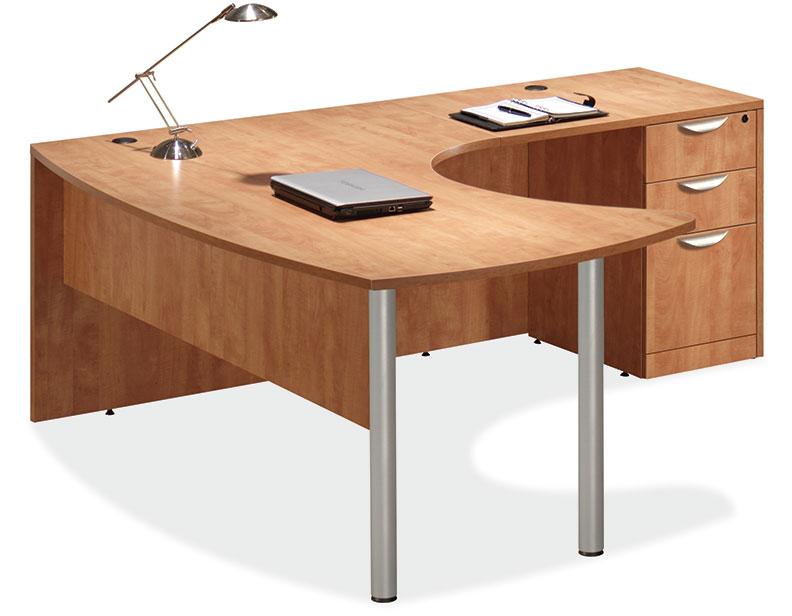 3pc L Shape Modern Contemporary Executive Office Desk Set