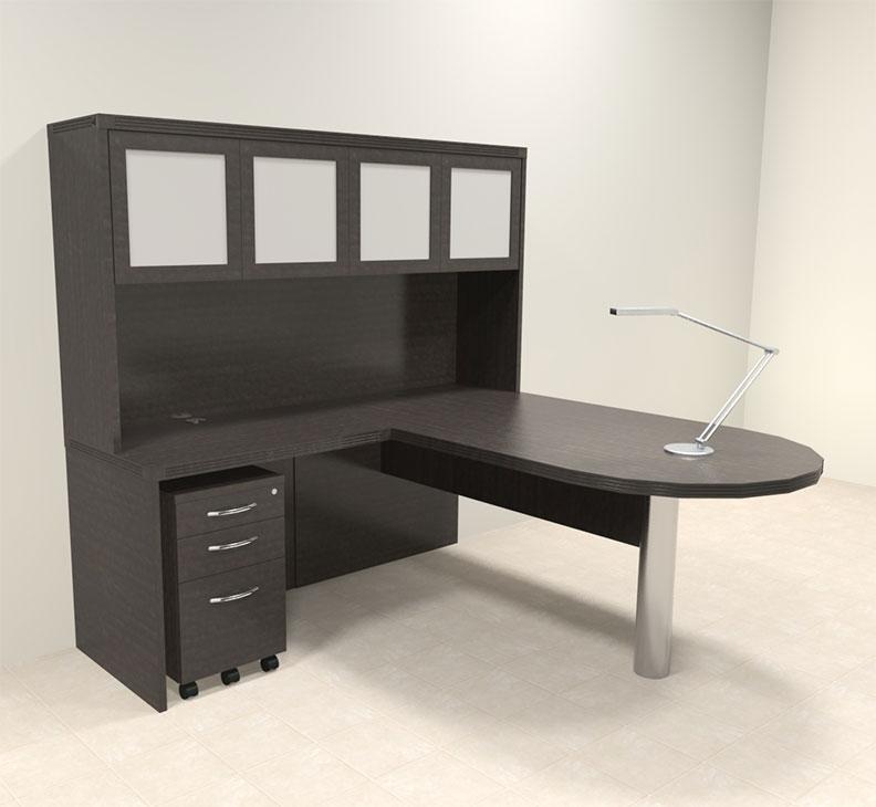 4pc modern contemporary l shaped executive office desk set ro abd