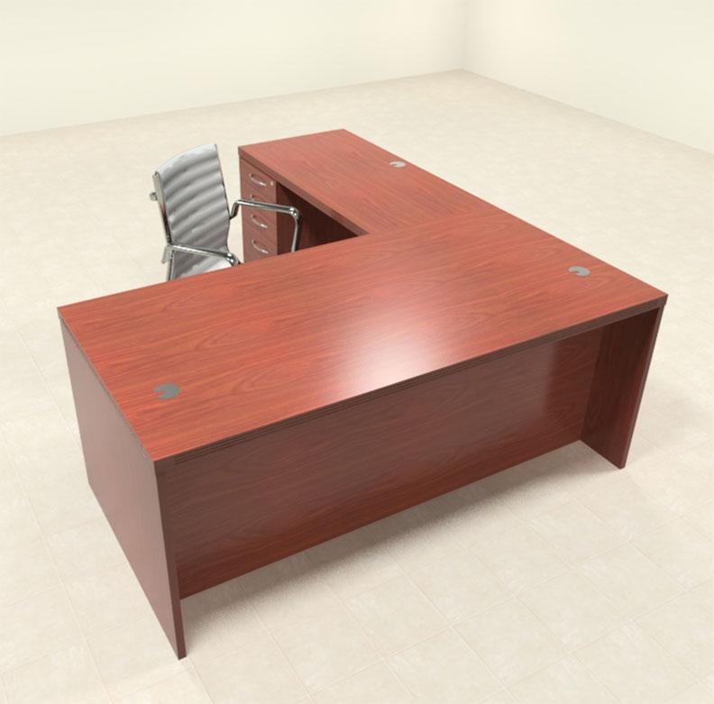 3pc modern contemporary l shaped executive office desk set ro abd l5