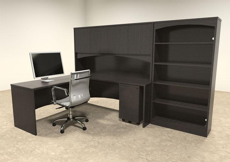 5pc modern contemporary l shaped executive office desk set ro bri