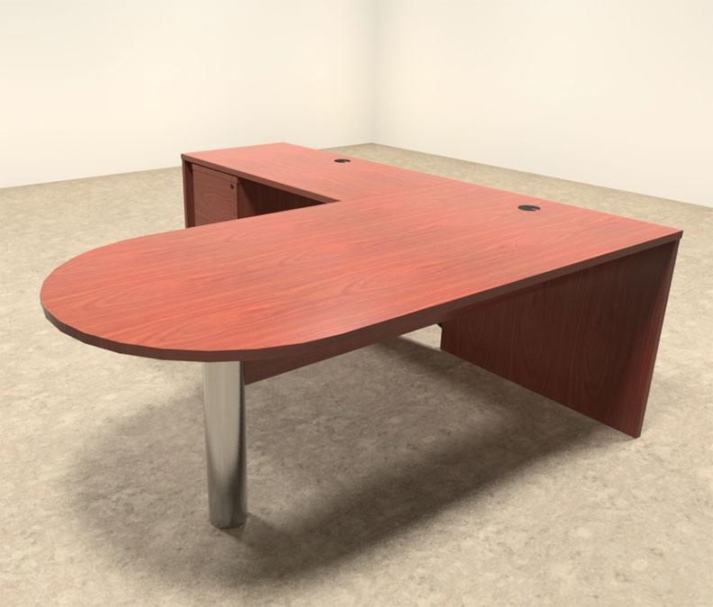 3pc modern contemporary l shaped executive office desk set ro bri l3