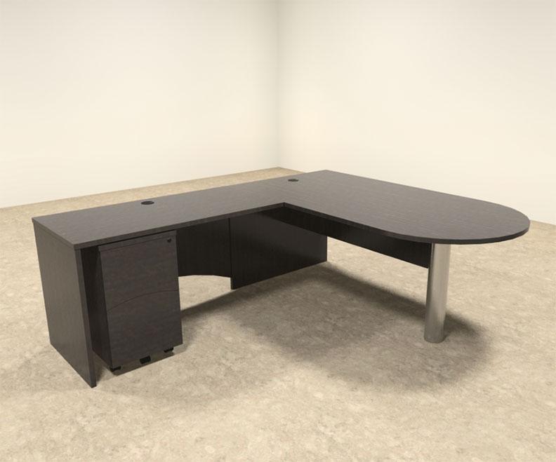 3pc modern contemporary l shape executive office desk set ro bri l4
