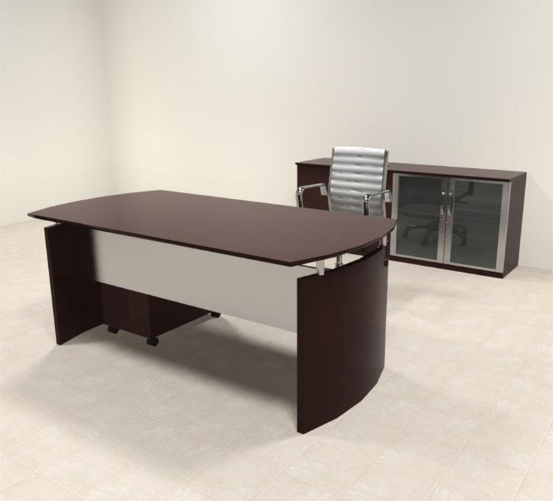 3pc modern contemporary executive office desk set ro nap