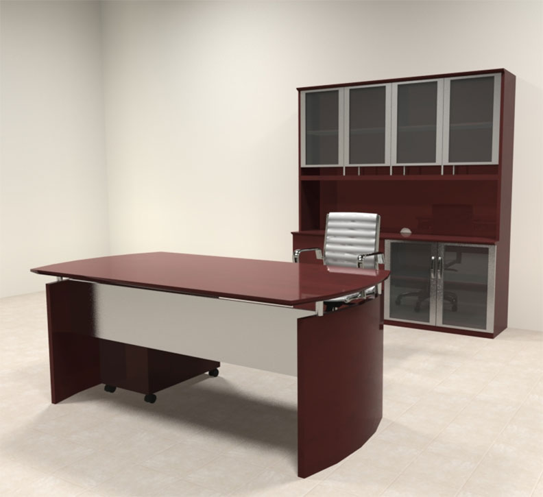 4pc modern contemporary executive office desk set ro nap