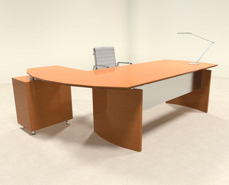 2pc modern contemporary l shaped executive office desk set ro nap l1