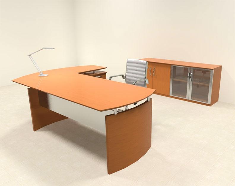 3pc modern contemporary l shaped executive office desk set ro nap l4