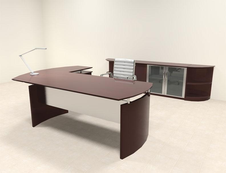 5pc modern contemporary l shaped executive office desk set ro nap l9