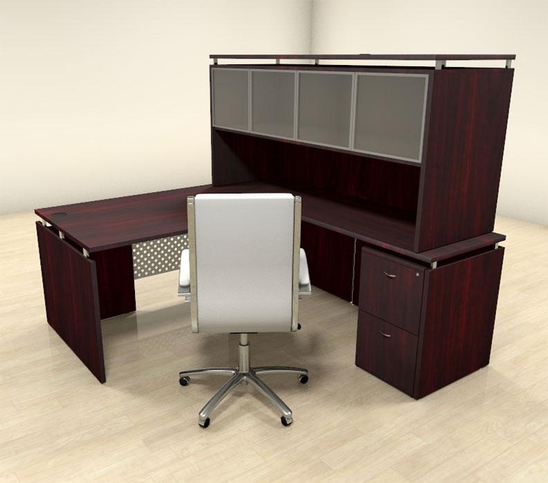 4pc modern l shaped contemporary executive office desk set sp act l5