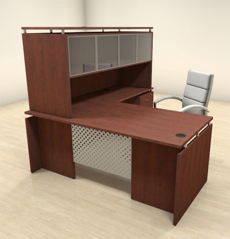 4pc modern l shaped contemporary executive office desk set sp act l6