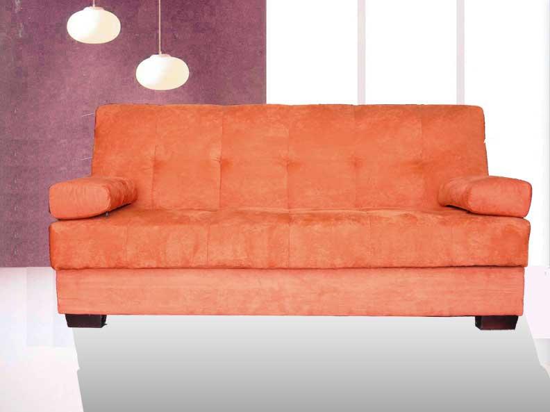 1pc Modern Microfiber Futon Sofa Bed With Storage Item 3570