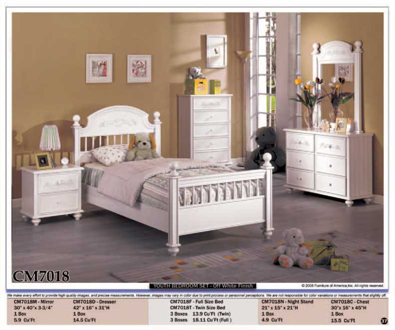 pcs kids youth bedroom set 1 full twin size bed 1 night stand
