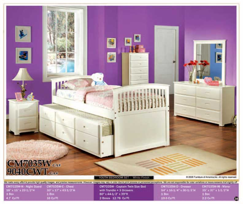 details about new 5pcs all wood twin kids trundle bedroom set cm7035