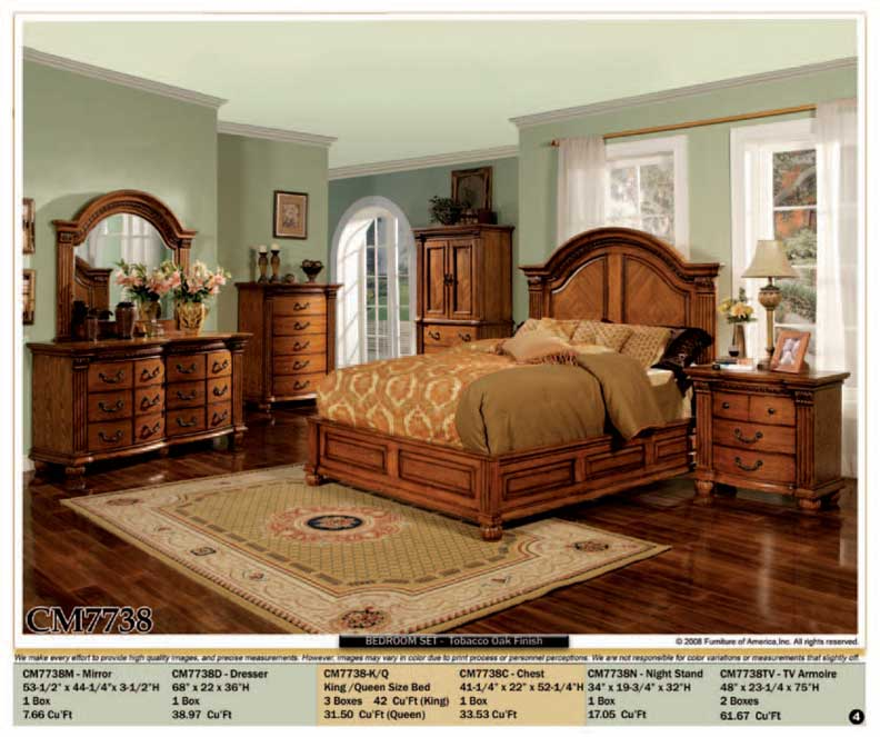 new 5pc queen all wood traditional bedroom set cm7738 ebay
