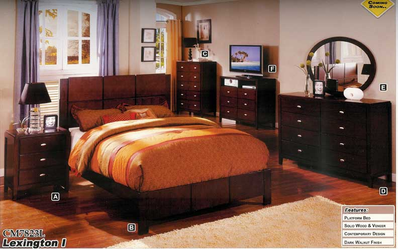 details about new 5pc queen all wood contemporary bedroom set cm7823l