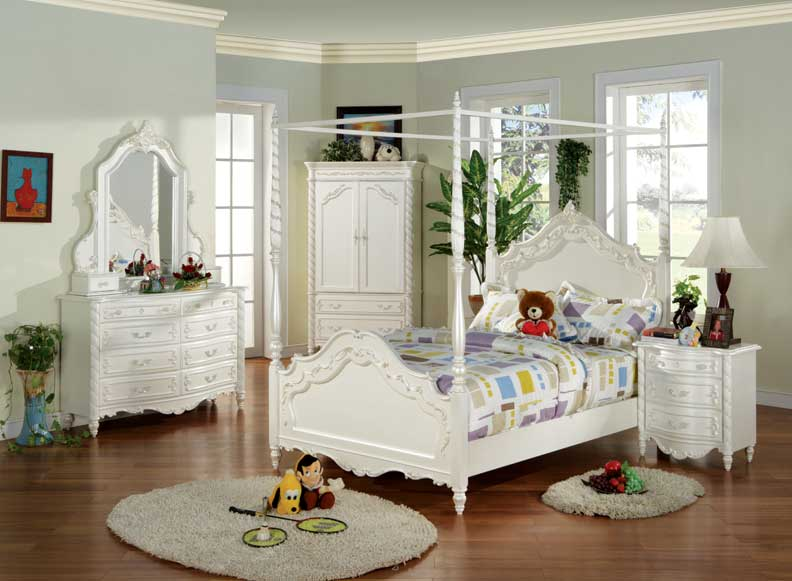 Details about NEW 4pcs All Wood Full Size Kids Bedroom Set- #US 873