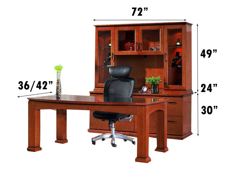 New pc all wood executive office desk set ch eme d ebay