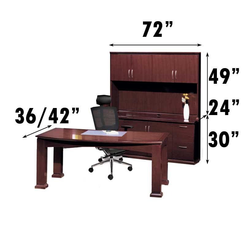 New pc all wood executive office desk set ch eme d